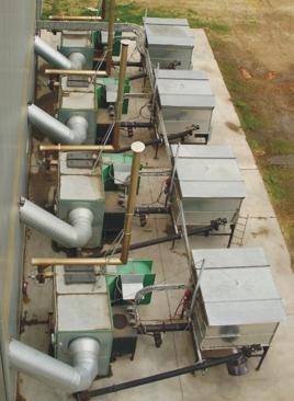 Les générateurs à air chaud peuvent être combinées pour augmenter la puissance.