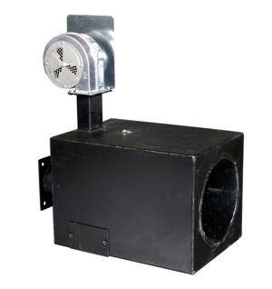 Brûleur biomasse Säätötuli 205,000 BTU/hr (60kW) avec un souffleur pour les airs primaire et secondaire.