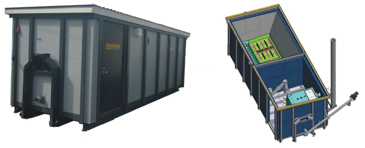 A containerised biomass boiler plant is a ready made plug-and-play renewable energy heating plant