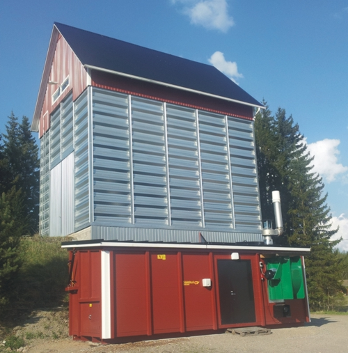 Applications of biomass heat: hot air for grain dryers