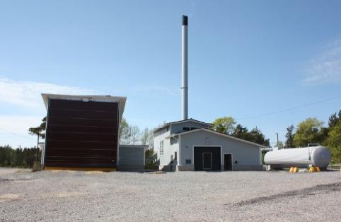 Municipal biomass district heating plant