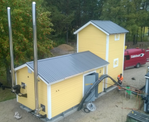 Examples of biomass heat applications: containerised biomass plants for BTU sellers