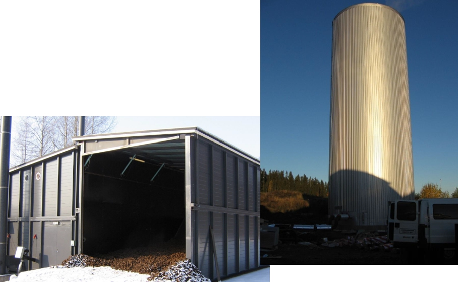 Hydro-accumulation tank for greenhouse heating