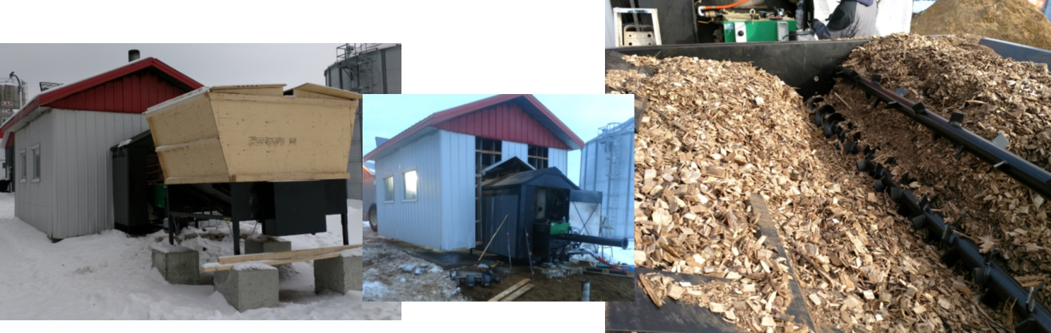 The Kaks2 biomass feeding system is connected to the burner and a silo is built on top of it
