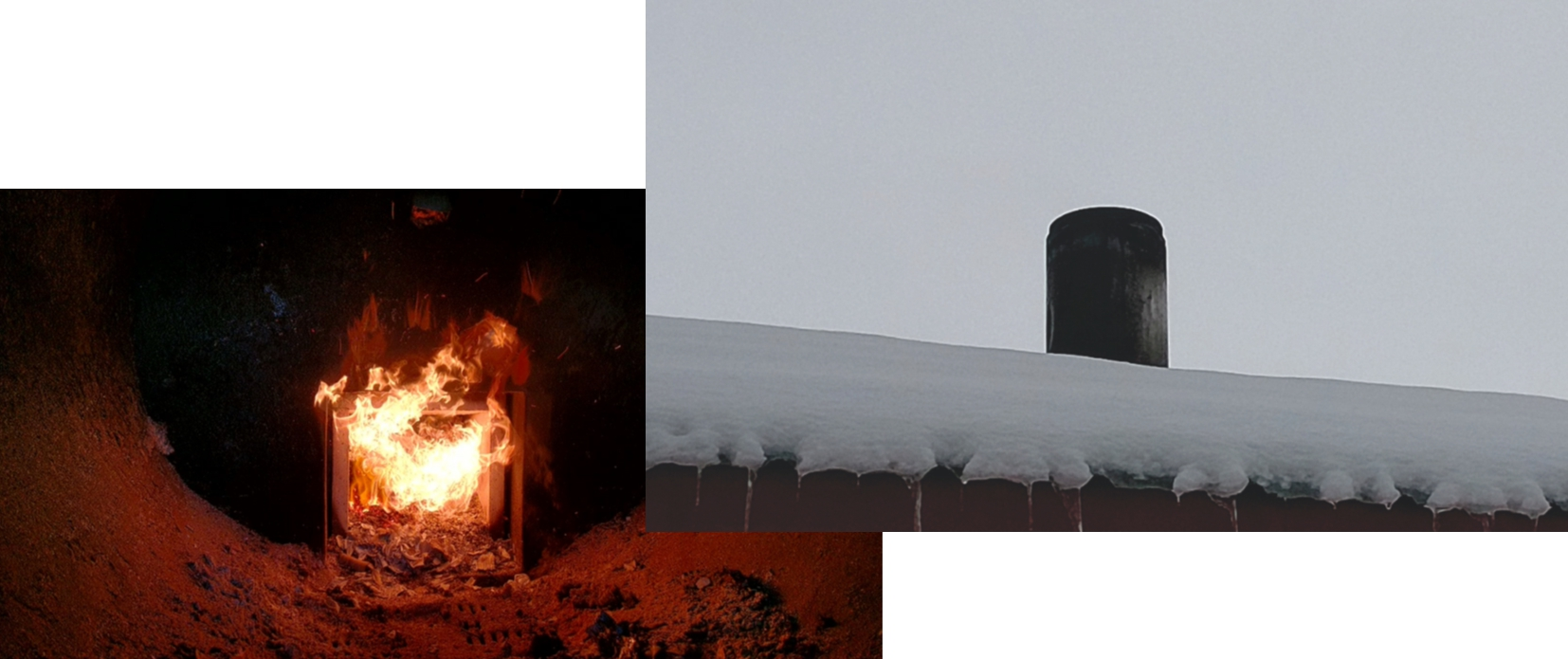 With correct setup of the primary and secondary airs, there is no smells nor visible smoke at the chimney