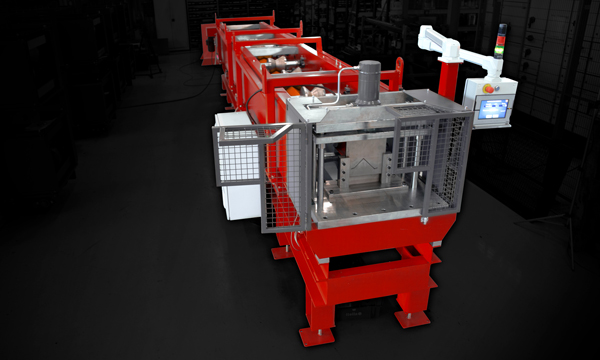 Roll-forming machine for flashings