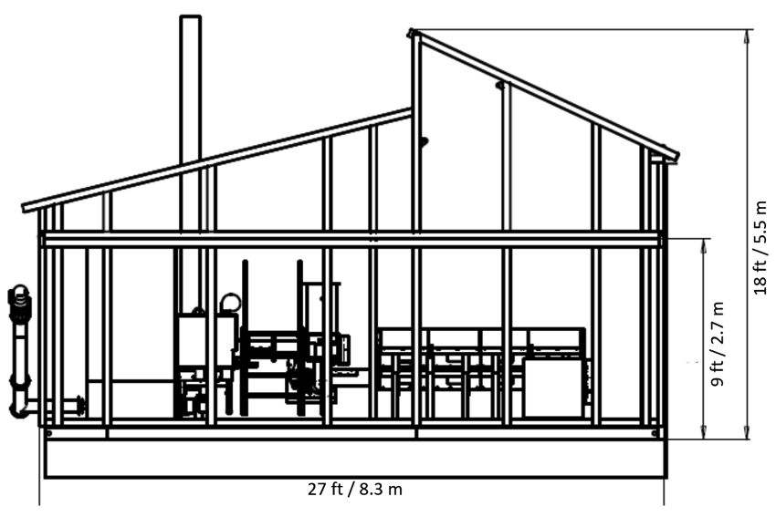 External dimensions of the prefabricated Biocont Jumbo