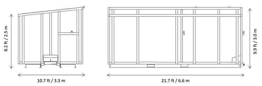 External dimensions of the Biocont Eco