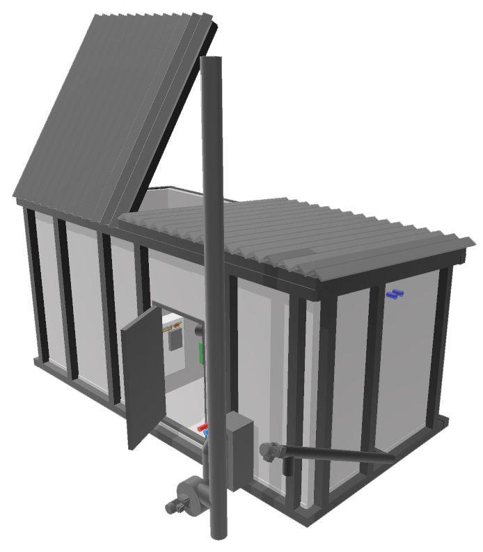 Biocont Eco biomass heat-energy box