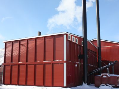 Double Biocont MultiJumbo heating a greenhouse