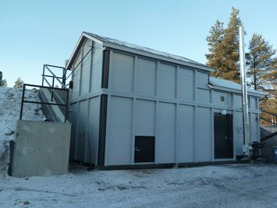 Biocont MultiJumbo district heating plant installed on a slope