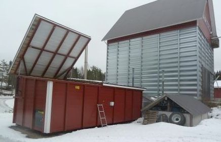 Grain dryers can be connected to containerised biomass heating systems