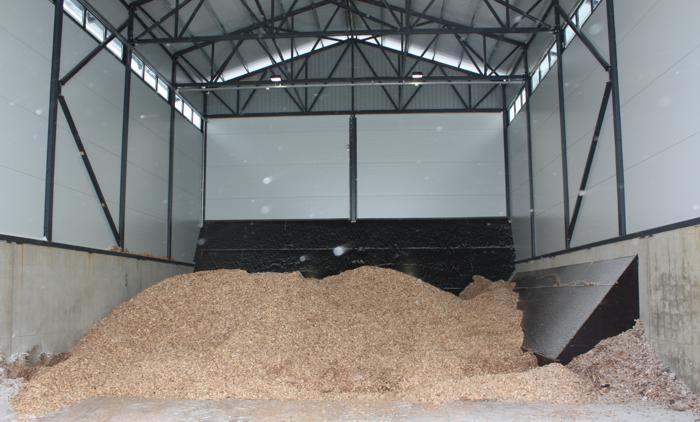 Tous les silos des systèmes de chauffage Säätötuli sont capables d'accepter des résidus de scierie et forestières
