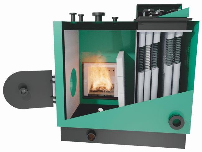 Chaudière biomasse à eau chaude à tubes verticaux