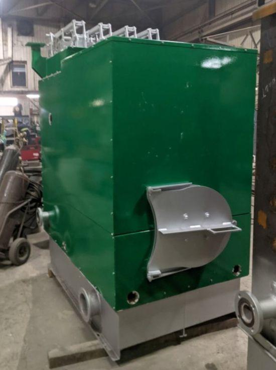 Säätötuli ASME hot-water biomass boiler at the manufacturing facility