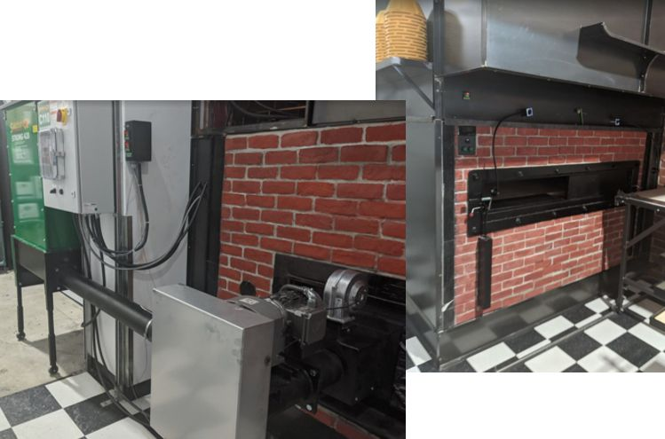 Traditional bread oven with biomass burner